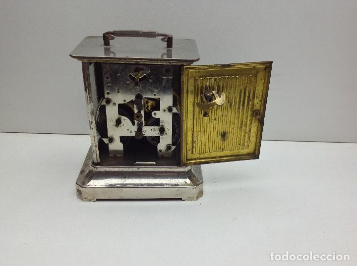 Relojes de carga manual: ANTIGUO RELOJ TIPO CARRUAJE -JUNGHANS ALEMAN CON SONERIA - FUNCIONA - Foto 5 - 136725098
