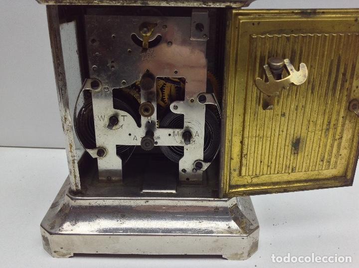 Relojes de carga manual: ANTIGUO RELOJ TIPO CARRUAJE -JUNGHANS ALEMAN CON SONERIA - FUNCIONA - Foto 6 - 136725098