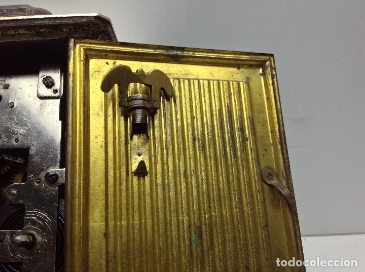 Relojes de carga manual: ANTIGUO RELOJ TIPO CARRUAJE -JUNGHANS ALEMAN CON SONERIA - FUNCIONA - Foto 8 - 136725098