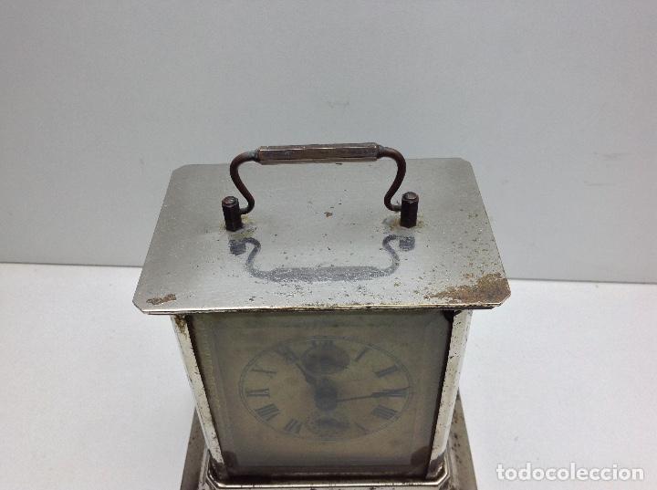 Relojes de carga manual: ANTIGUO RELOJ TIPO CARRUAJE -JUNGHANS ALEMAN CON SONERIA - FUNCIONA - Foto 12 - 136725098