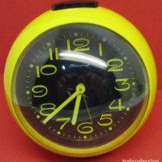 Relojes de carga manual: RELOJ DE SOBREMESA BLESSING WEST GERMANY RETRO VINTAGE SPACE AGE POP. Lote 137242614