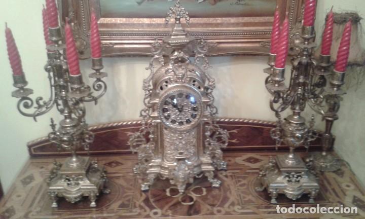 Relojes de carga manual: Reloj de bronce con candelabros - Foto 4 - 137596758