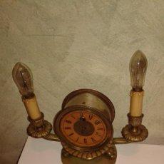 Relojes de carga manual: RELOJ DE SOBREMESA. CUERDA Y CANDELABROS ELÉCTRICOS. Lote 137901102