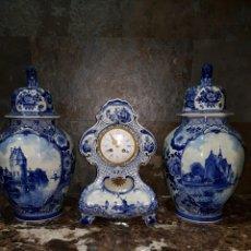 Relojes de carga manual: RELOJ DE PORCELANA Y GUARNICIONES. Lote 137963869