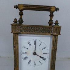 Relojes de carga manual: RELOJ CARRUAJE CRISTALES BISELADOS. Lote 138559530