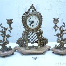 Relojes de carga manual: RELOJ DE BRONCE CON GUARNICIÓN. CARGA MANUAL. FUNCIONANDO. Lote 138909318