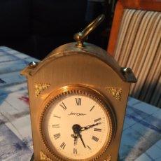 Relojes de carga manual: RELOJ DE SOBREMESA JERGER, DE CUERDA, FUNCIONA. Lote 139239072