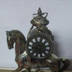 Relojes de carga manual: RELOJ-CABALLO BAÑO DE PLATA VIEJA. AÑOS 60. YA NO SE FABRICAN OBJETOS TAN HERMOSOS.. Lote 135152854
