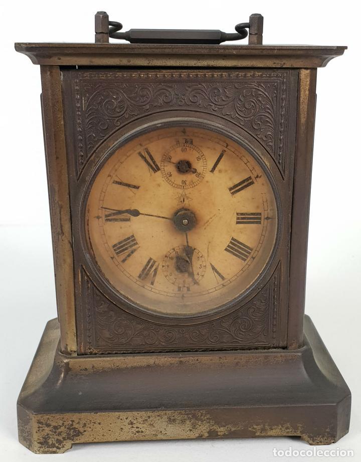 RELOJ DE SOBREMESA DE CARRUAJE. JUNGHANS. ALEMANIA. SIGLO XIX-XX. (Relojes - Sobremesa Carga Manual)