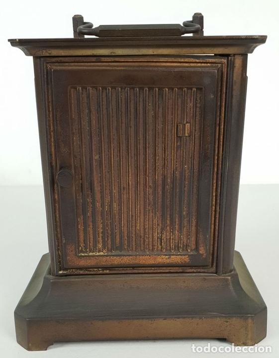 Relojes de carga manual: RELOJ DE SOBREMESA DE CARRUAJE. JUNGHANS. ALEMANIA. SIGLO XIX-XX. - Foto 3 - 139941770