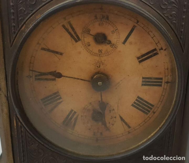 Relojes de carga manual: RELOJ DE SOBREMESA DE CARRUAJE. JUNGHANS. ALEMANIA. SIGLO XIX-XX. - Foto 4 - 139941770