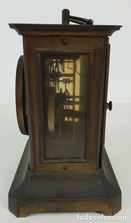Relojes de carga manual: RELOJ DE SOBREMESA DE CARRUAJE. JUNGHANS. ALEMANIA. SIGLO XIX-XX. - Foto 6 - 139941770
