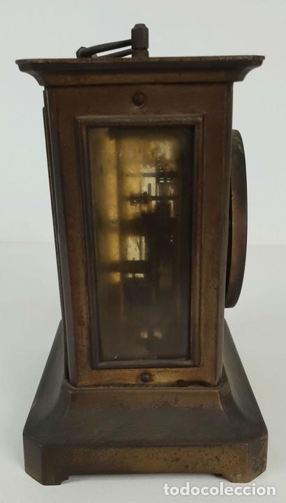 Relojes de carga manual: RELOJ DE SOBREMESA DE CARRUAJE. JUNGHANS. ALEMANIA. SIGLO XIX-XX. - Foto 7 - 139941770