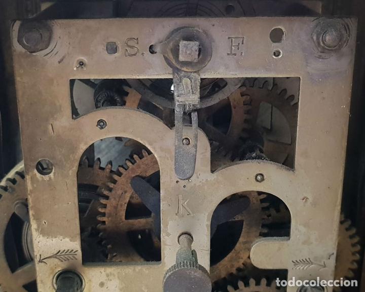 Relojes de carga manual: RELOJ DE SOBREMESA DE CARRUAJE. JUNGHANS. ALEMANIA. SIGLO XIX-XX. - Foto 8 - 139941770
