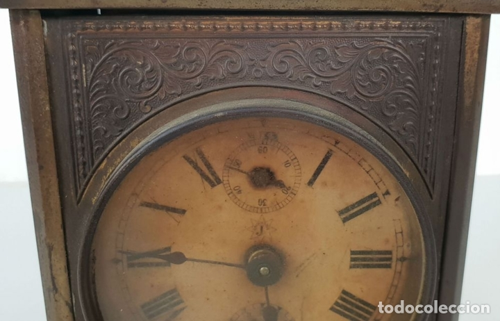 Relojes de carga manual: RELOJ DE SOBREMESA DE CARRUAJE. JUNGHANS. ALEMANIA. SIGLO XIX-XX. - Foto 9 - 139941770