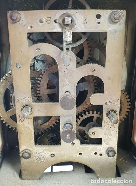 Relojes de carga manual: RELOJ DE SOBREMESA DE CARRUAJE. JUNGHANS. ALEMANIA. SIGLO XIX-XX. - Foto 12 - 139941770
