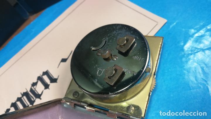 Relojes de carga manual: Botito y antique reloj despertador de viaje JUNGHANS , funcionando - Foto 11 - 140283502