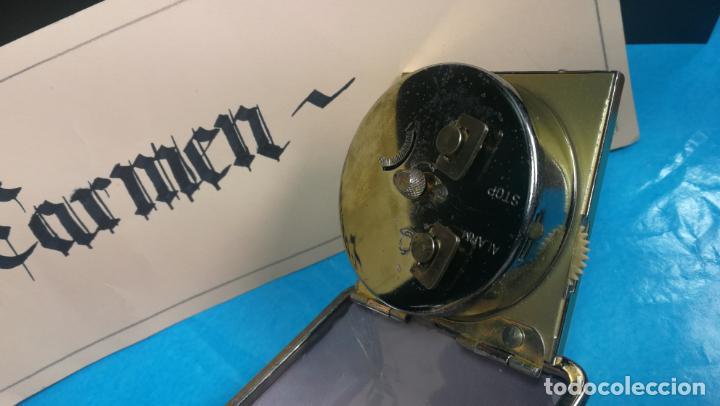 Relojes de carga manual: Botito y antique reloj despertador de viaje JUNGHANS , funcionando - Foto 14 - 140283502