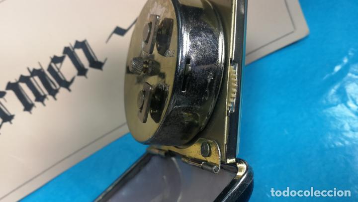 Relojes de carga manual: Botito y antique reloj despertador de viaje JUNGHANS , funcionando - Foto 15 - 140283502
