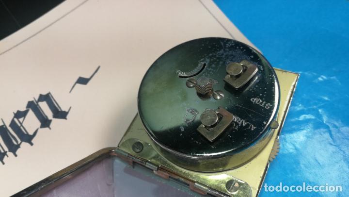 Relojes de carga manual: Botito y antique reloj despertador de viaje JUNGHANS , funcionando - Foto 16 - 140283502