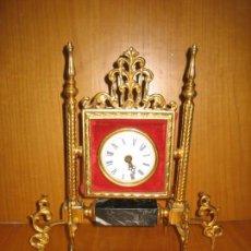 Relojes de carga manual: ANTIGUO RELOJ DE SOBREMESA EN BRONCE .NO FUNCIONA. Lote 140490954