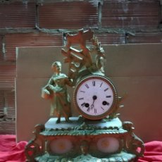 Relojes de carga manual: ANTIGUO RELOJ FRANCÉS SIGLO XIX CALAMINA DORADA. Lote 143161581