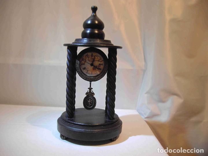 Relojes de carga manual: RELOJ MESA MADERA TEMPLETE - Foto 2 - 140737514