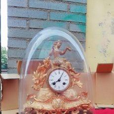Relojes de carga manual: IMPRESIONANTE RELOJ FRANCÉS SIGLO XIX CON GLOBO DE CRISTAL SIGLO XIX. Lote 143161166