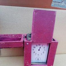 Relojes de carga manual: IMPORTANTE RELOJ DE CARRUAJE VITRINA EN MALETIN DE VIAJE SIGLO XIX EXCELENTE PIEZA DE COLECCIÓN. Lote 142182917