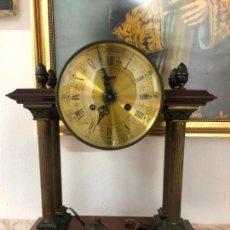 Relojes de carga manual: MAGNIFICO RELOJ URGOS DE CUERDA FUNCIONANDO PERFECTAMENTE Y EN MUY BUEN ESTADO - MEDIDA 40X41 CM. Lote 141658782
