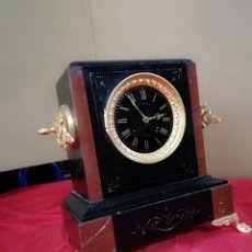 Relojes de carga manual: ESPECTACULAR RELOJ FRANCÉS SIGLO XIX MÁRMOL Y BRONCE AL MERCURIO SIGLO XIX. Lote 142778490