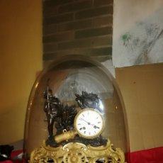 Relojes de carga manual: IMPORTANTE RELOJ FRANCÉS SIGLO XIX FANAL DE CRISTAL, BAÑO DE BRONCE AL MERCURIO ORO FINO. Lote 148094970