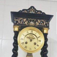 Relojes de carga manual: RELOJ PORTICO ANTIGUO MÁQUINA ESCAPE VISTO BUEN ESTADO CIRCA 1850 1860 FUNCIONA ALTA COLECION. Lote 142601750