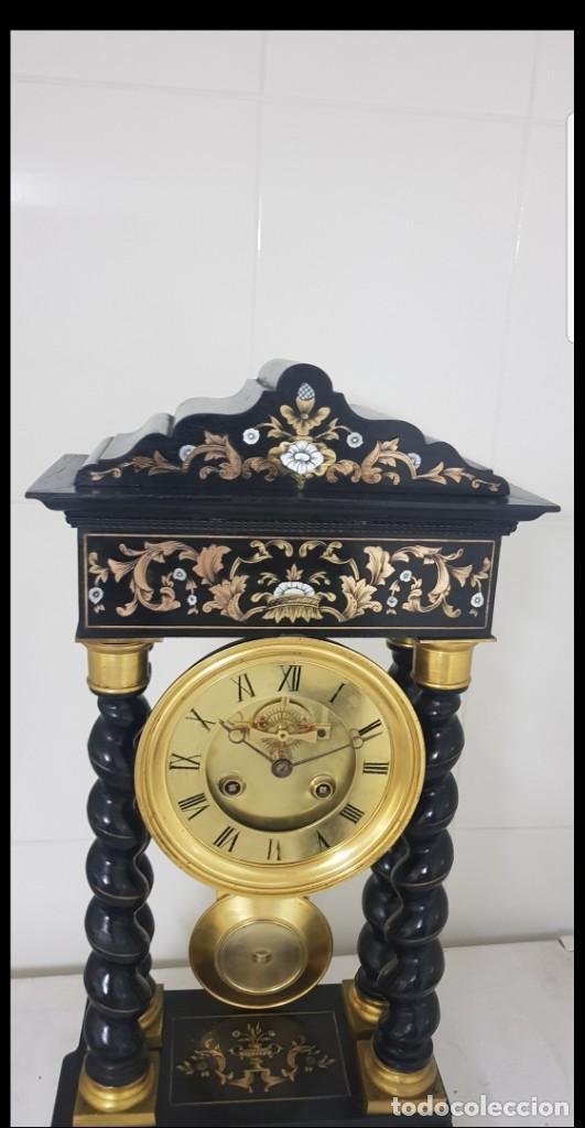 Relojes de carga manual: Reloj portico antiguo máquina escape visto buen estado CIRCA 1850 1860 funciona ALTA COLECION - Foto 2 - 142601750