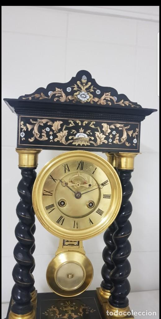 Relojes de carga manual: Reloj portico antiguo máquina escape visto buen estado CIRCA 1850 1860 funciona ALTA COLECION - Foto 3 - 142601750