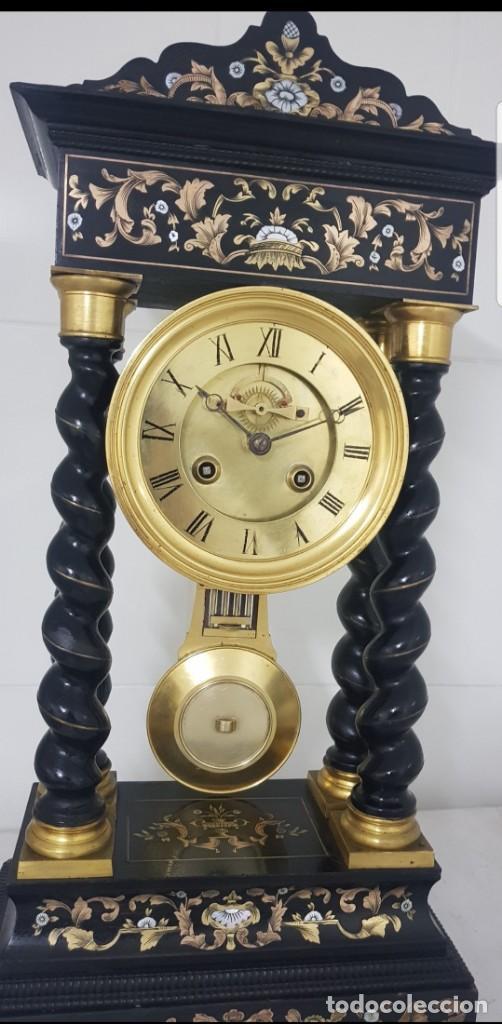 Relojes de carga manual: Reloj portico antiguo máquina escape visto buen estado CIRCA 1850 1860 funciona ALTA COLECION - Foto 4 - 142601750