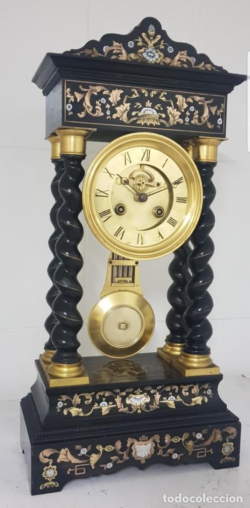 Relojes de carga manual: Reloj portico antiguo máquina escape visto buen estado CIRCA 1850 1860 funciona ALTA COLECION - Foto 6 - 142601750