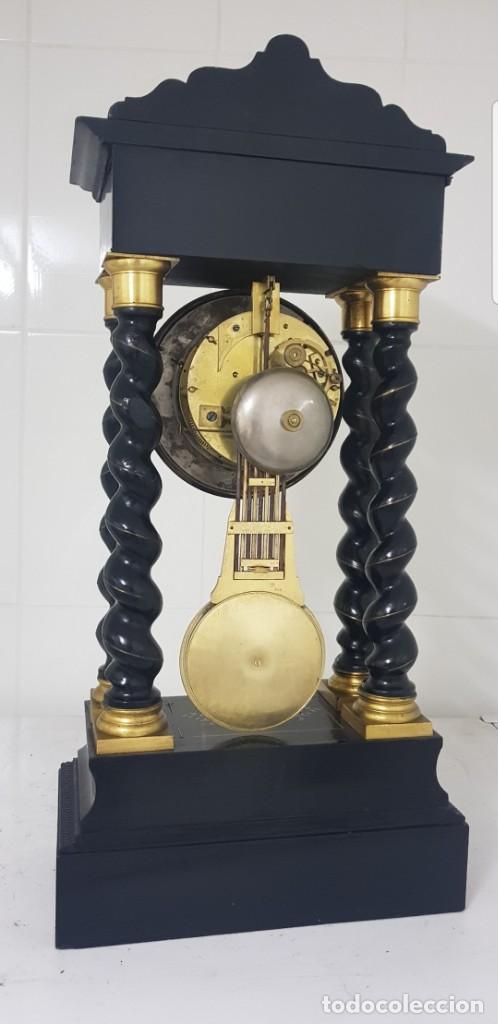 Relojes de carga manual: Reloj portico antiguo máquina escape visto buen estado CIRCA 1850 1860 funciona ALTA COLECION - Foto 7 - 142601750