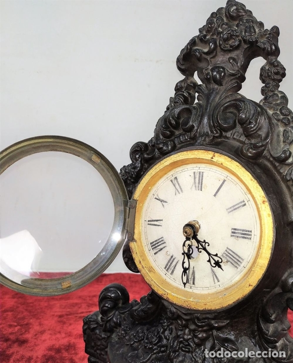 Relojes de carga manual: RELOJ. HIERRO COLADO. ESFERA PINTADA. SIN MAQUINARIA. EUROPA(?). SIGLO XIX - Foto 7 - 142865542