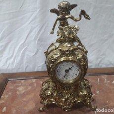 Relojes de carga manual: RELOJ DE BRONCE A PILAS. Lote 143296782