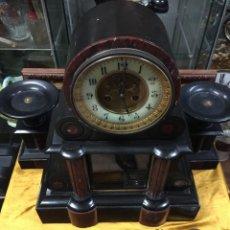 Relojes de carga manual: ESPECTACULAR RELOJ CON COPAS, ESCAPE VISTO. NAPOLEÓN III, . PÉNDULO MERCURIO. FUNCIONA. Lote 143474298
