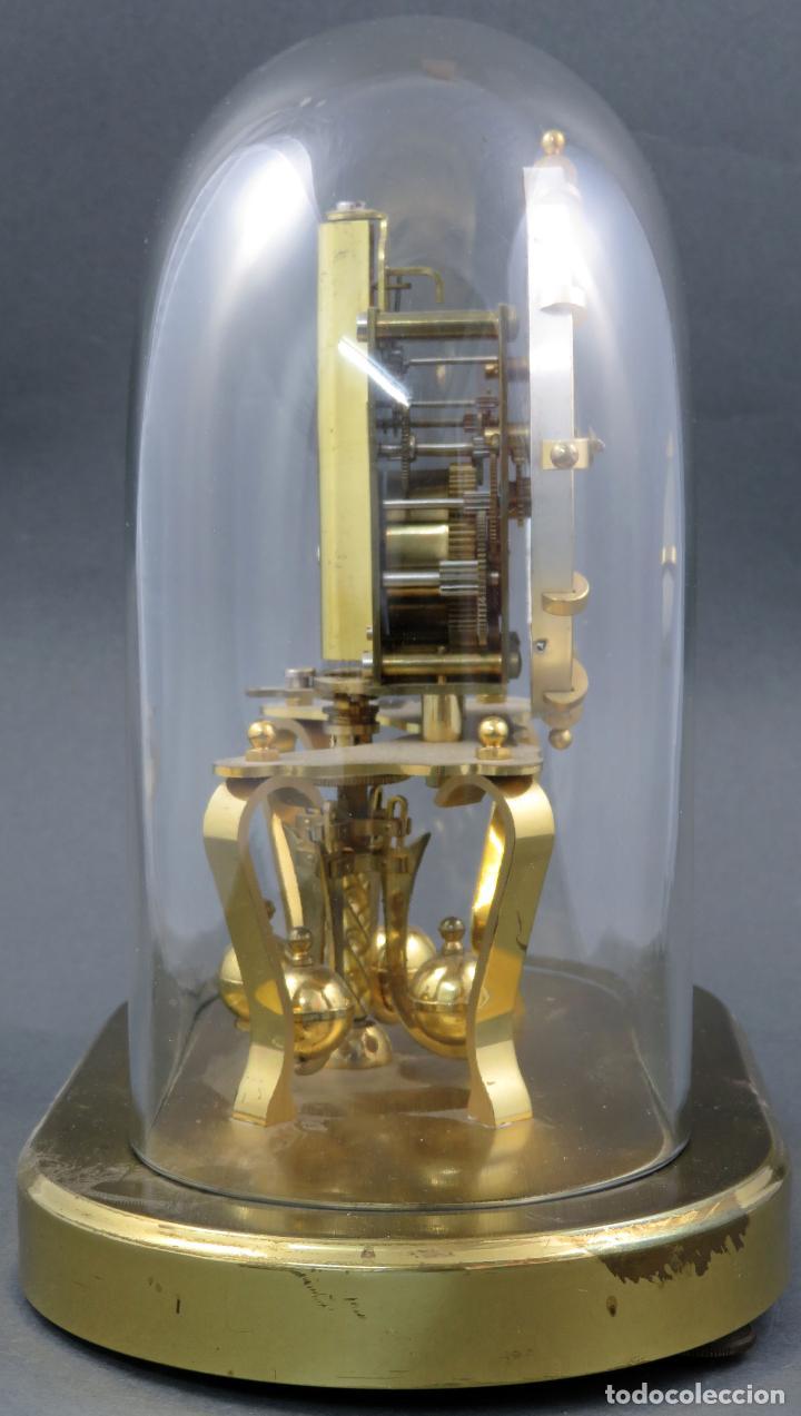 Relojes de carga manual: Reloj Kundo aleman Kieninger Obergfoll pendulo a torsión 400 dias años 50 funcionando - Foto 5 - 144091066