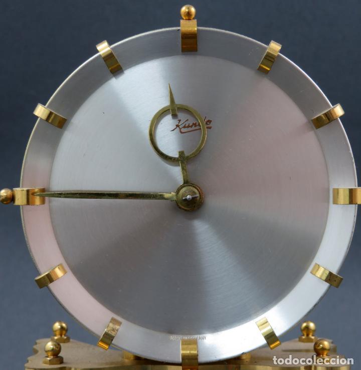 Relojes de carga manual: Reloj Kundo aleman Kieninger Obergfoll pendulo a torsión 400 dias años 50 funcionando - Foto 7 - 144091066