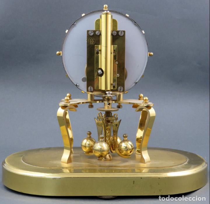 Relojes de carga manual: Reloj Kundo aleman Kieninger Obergfoll pendulo a torsión 400 dias años 50 funcionando - Foto 10 - 144091066