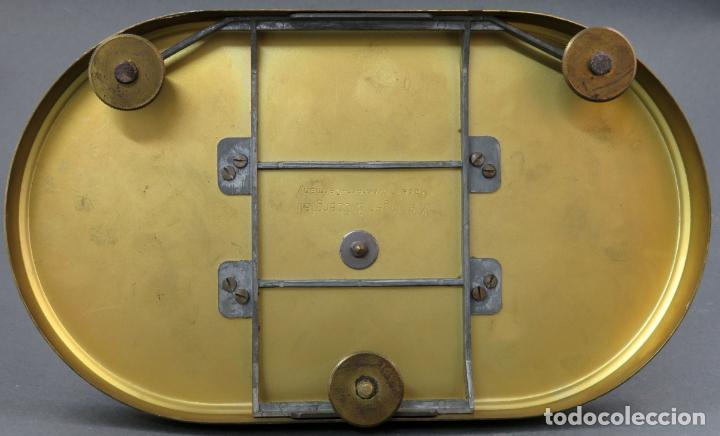 Relojes de carga manual: Reloj Kundo aleman Kieninger Obergfoll pendulo a torsión 400 dias años 50 funcionando - Foto 12 - 144091066