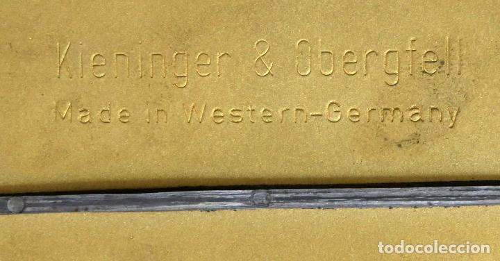 Relojes de carga manual: Reloj Kundo aleman Kieninger Obergfoll pendulo a torsión 400 dias años 50 funcionando - Foto 13 - 144091066