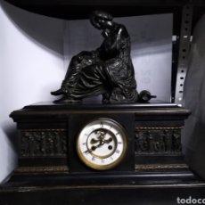 Relojes de carga manual: RELOJ NAPOLEÓNICO CON FIGURA DE BRONCE Y MÁQUINA DE ESCAPEVISTO. Lote 144487785