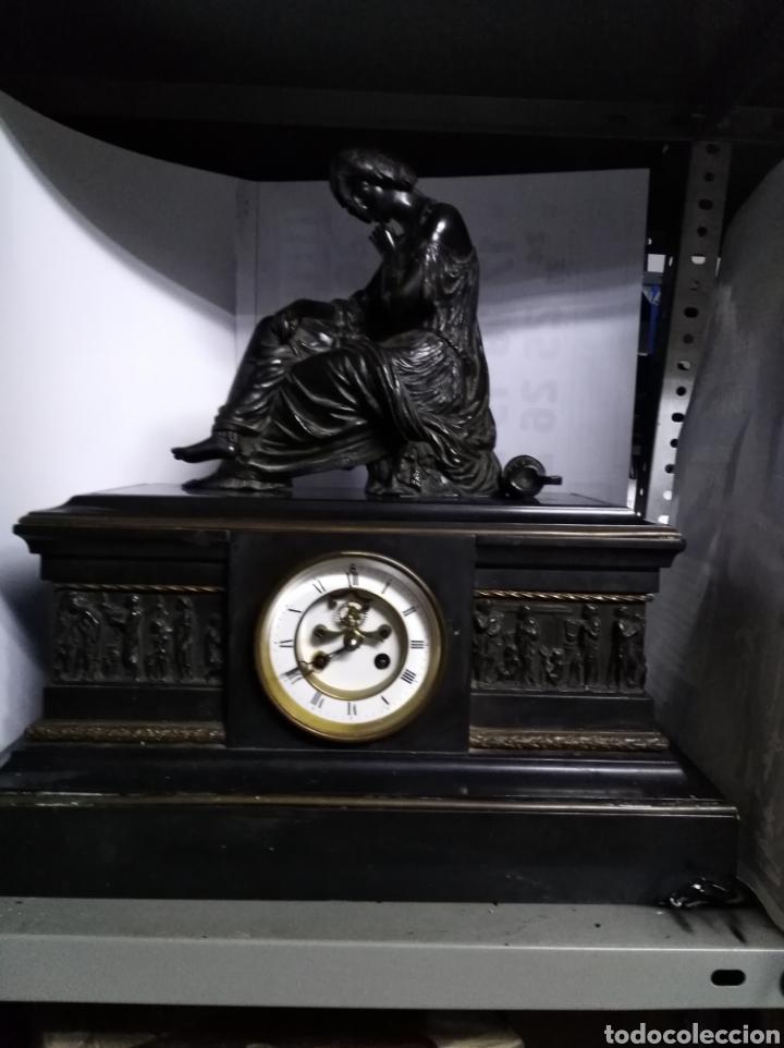 Relojes de carga manual: Reloj napoleónico con figura de bronce y máquina de escapevisto - Foto 2 - 144487785
