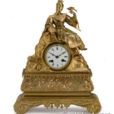Relojes de carga manual: IMPRESIOANTE RELOJ DE MESA LOUIS-PHILIPPE BRONCE DORADO . MED SIGLO XIX , FIRMADO 'PONTONIE PARIS'. Lote 27178989
