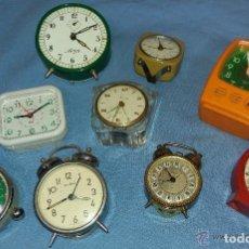 Relojes de carga manual: LOTE DE RELOJES ANTIGUOS A 6 EUROS LA UNIDAD UNOS DE CUERDA OTROS DE PILA MARCAS CONOCIDAS. Lote 76611111